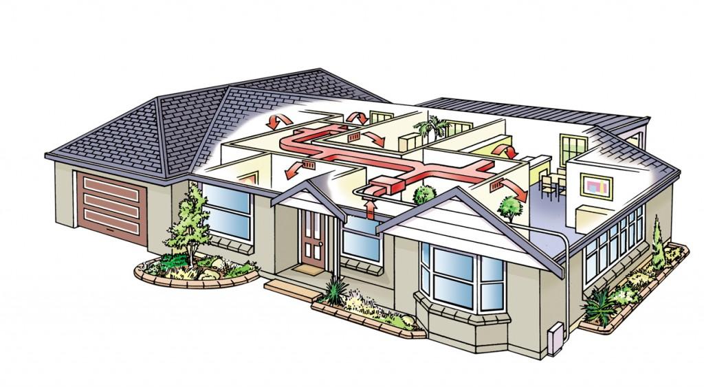 La preinstalaci n de conductos de aire acondicionado paso for Temperatura ideal aire acondicionado invierno