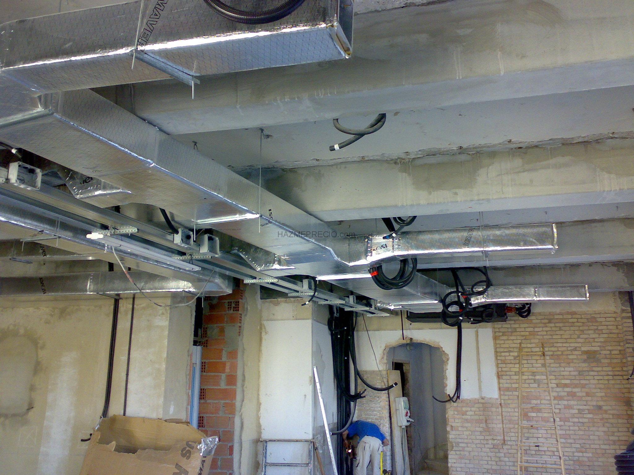 Pre instalaci n de conductos de aire acondicionado for Aire acondicionado conductos