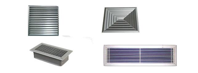 Aire acondicionado por conductos tipos de rejillas for Salida aire acondicionado